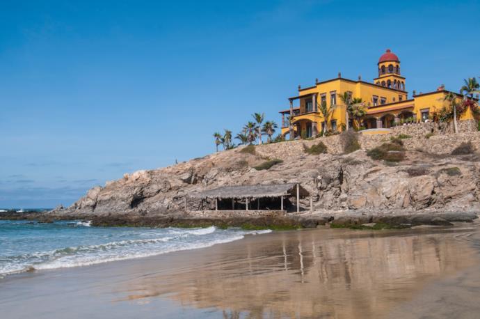 Beach of Todos Santos in Mexico
