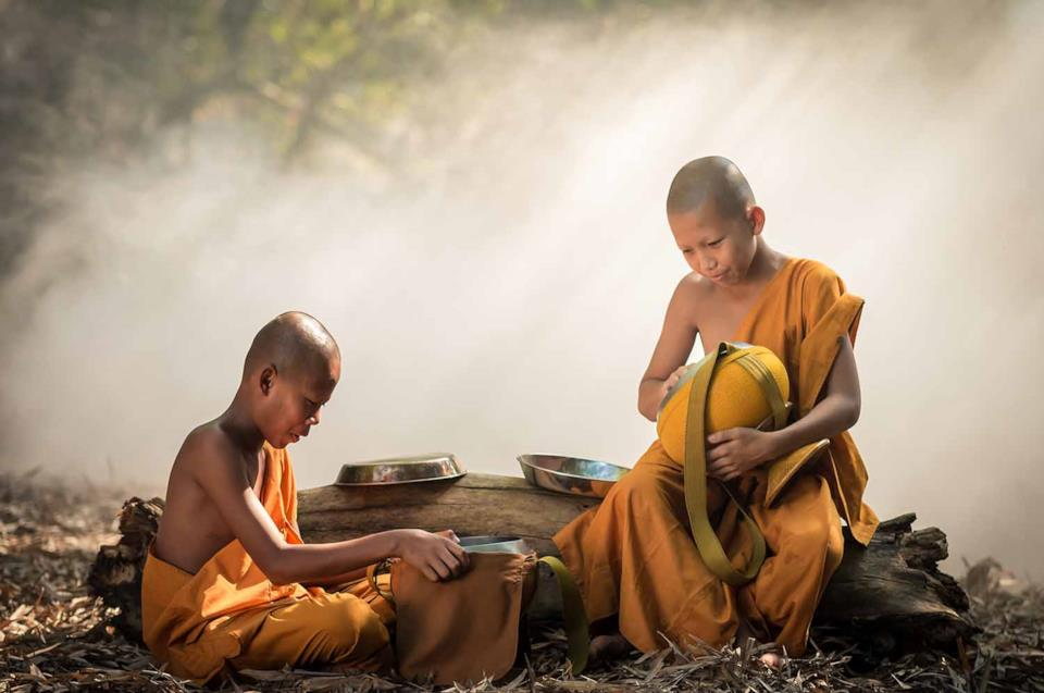Two young monks in Myanmar