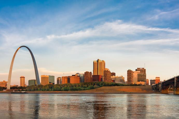 Arch of St. Louis in the Usa