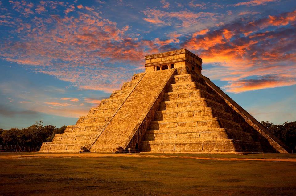 Mayan pyramid at Chichen Itza in Mexico