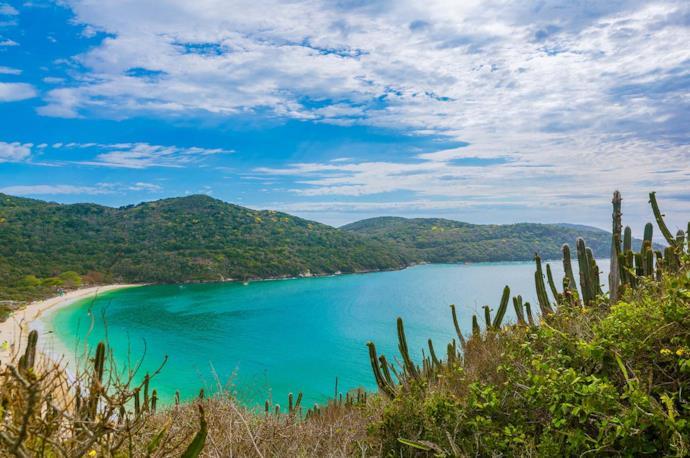 View of Praia da Forno beach, Brazil