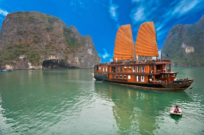 Boat in Halong Bay, Vietnam