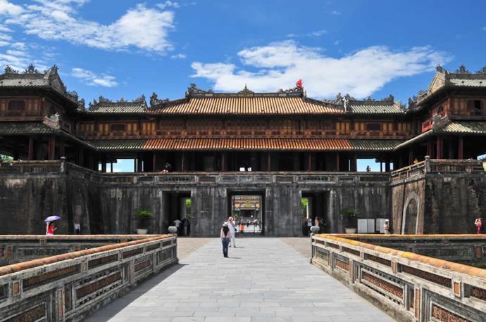 Hue's ancient citadel in Vietnam