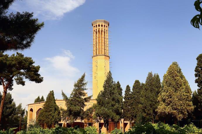 Dolat Abbad Garden in Yazd, Iran