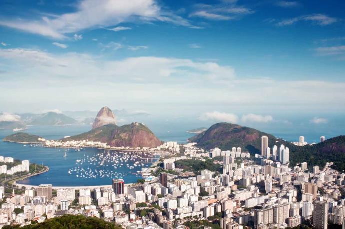 View of Rodrigo de Freitas Lagoon, Rio de Janeiro, Brazil