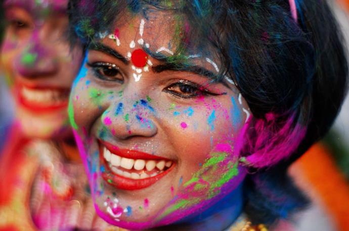 Girl during Holi Festival