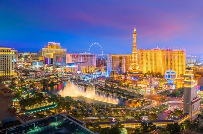 Las Vegas by night, Usa