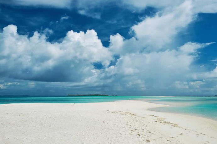 Typical white beach in Maldives