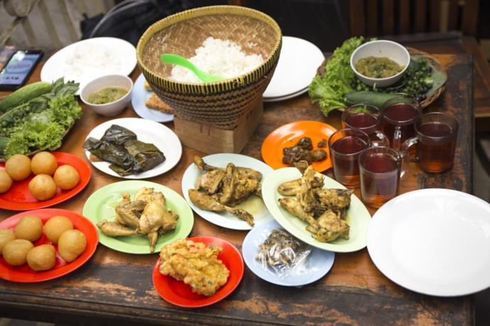 Bandung typical dishes in Indonesia