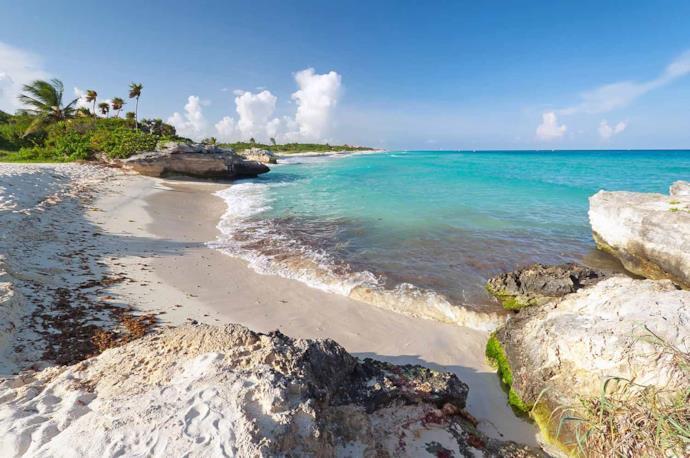Playacar beach in Playa del Carmen, Mexico