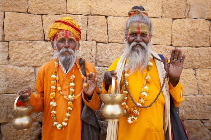 Two Indian holy men