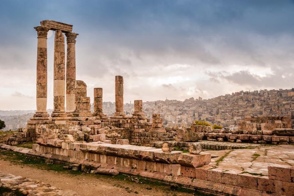 Roman ruins in Amman, Jordan