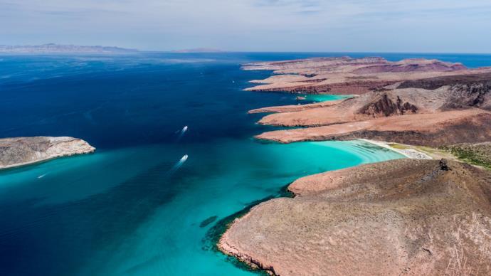 Espiritu Santo island in Baja California Sur, Mexico