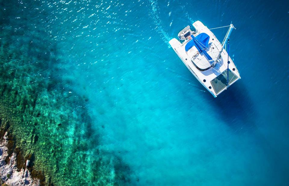 Catamaran in the Mexican sea