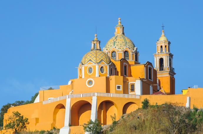 Basilica of Cholula in Mexico