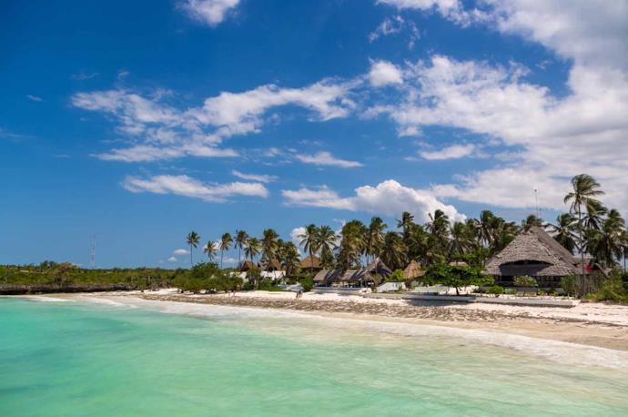 A beach resort in Zanzibar