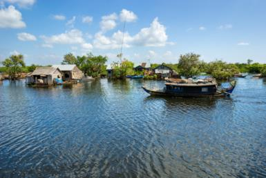 Tonle Sap and the floating villages