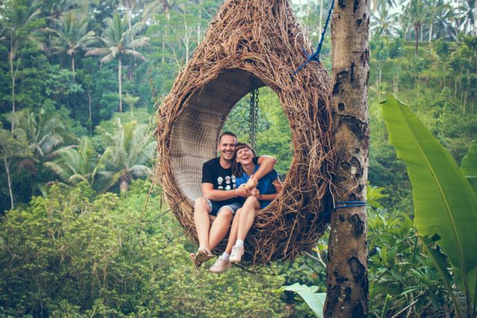 Sustainable hammock in the jungle