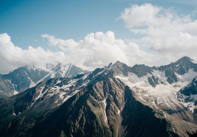 Peak of Mount Elbrus in Russia