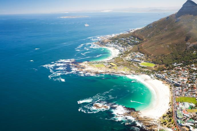 Cape Town coastline in South Africa
