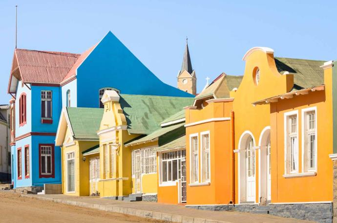 Luderitz houses in Namibia