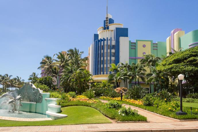 Durban city center in South Africa