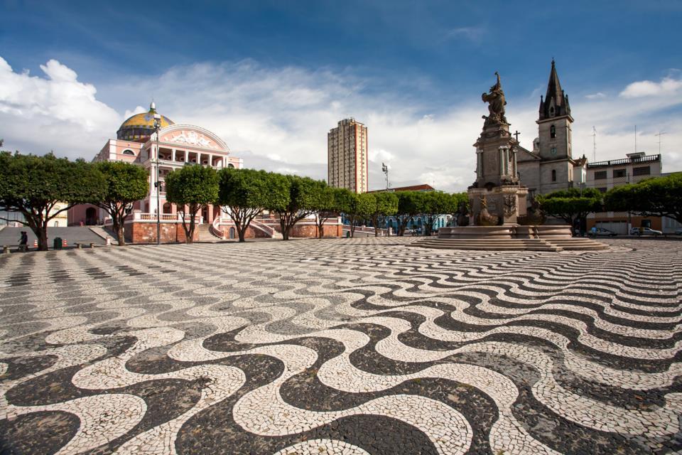 Main square in Manaus, Brazil