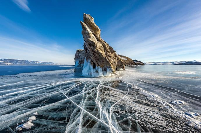 Olkhon island and shaman rock, Russia