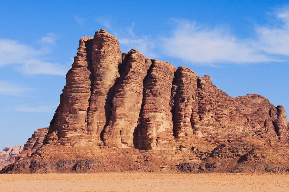 Seven pillars of Wisdom, Wadi Rum, Jordan