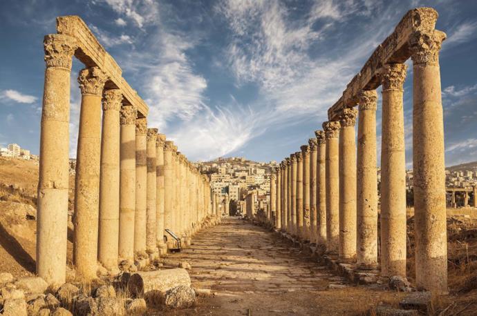Colonne romane a Jerash