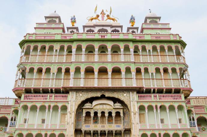 Haveli, tipici palazzi indiani a Bikaner, Rajasthan