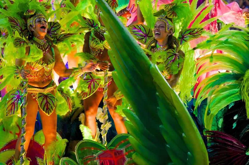 Ballerini al Carnevale di Rio in Brasile