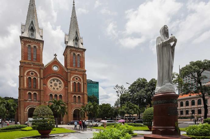 Basilica di Notre Dame a Ho Chi Minh, Vietnam