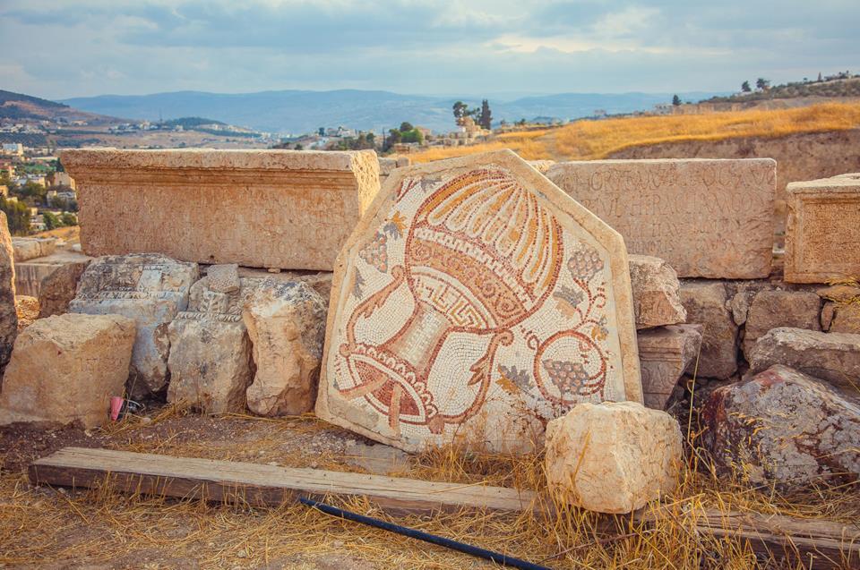 Mosaico di età romana a Jerash