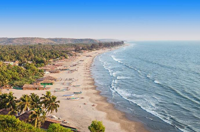 Arambol beach a Goa, India