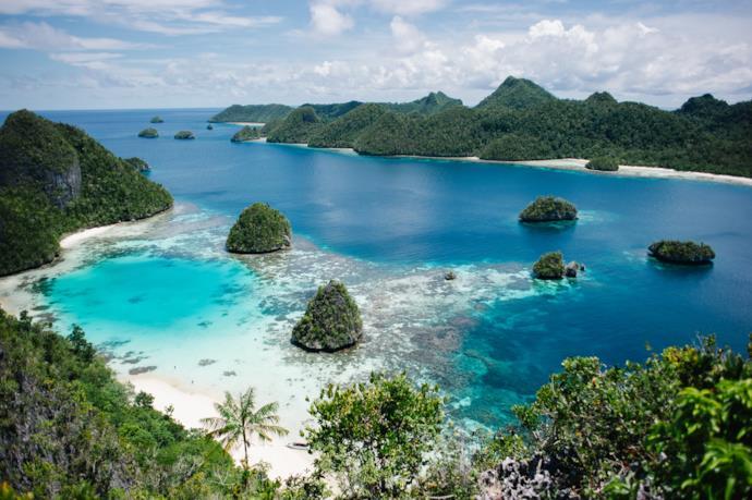 Costa di Raja Ampat in Indonesia