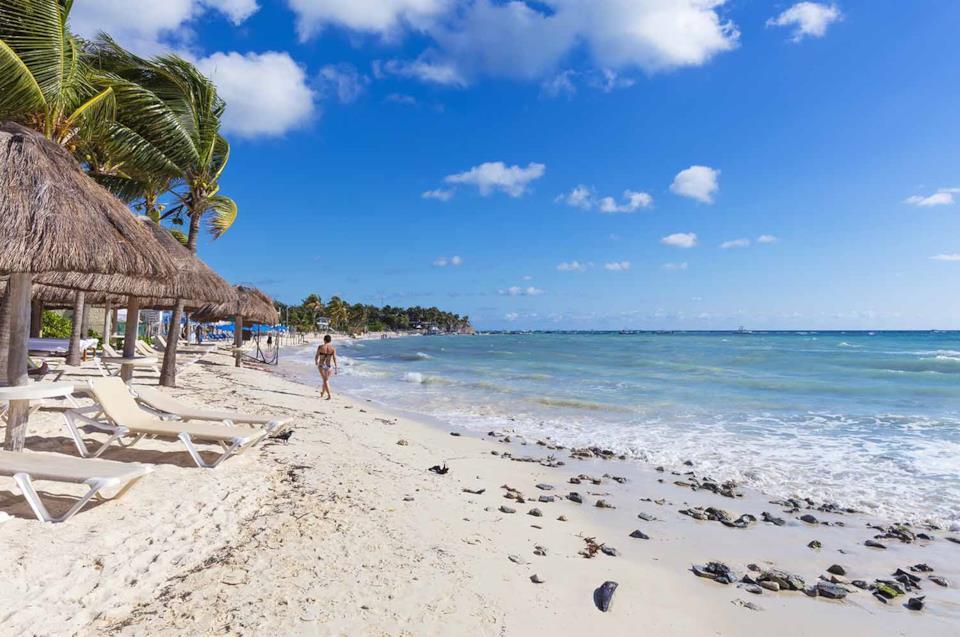 Spiaggia a Playa del Carmen in Messico