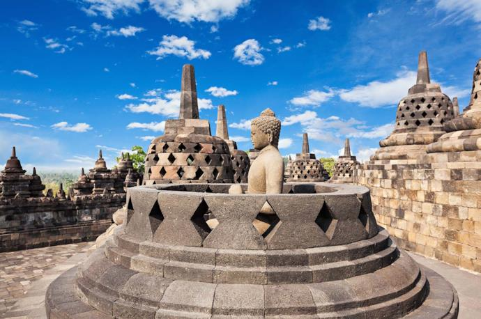 Sito Borobudur a Giava in Indonesia