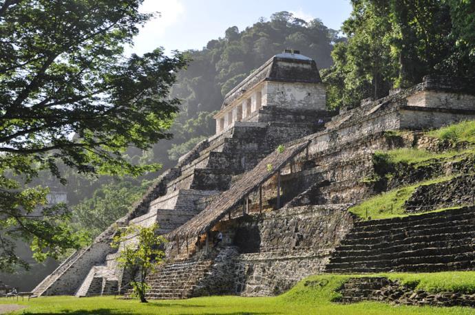 Rovine di Palenque in Yucatan, Messico