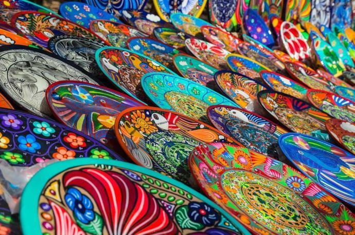 Souvenir tipici messicani in un mercato