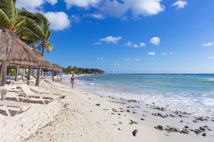 Spiaggia a Playa del Carmen, Messico