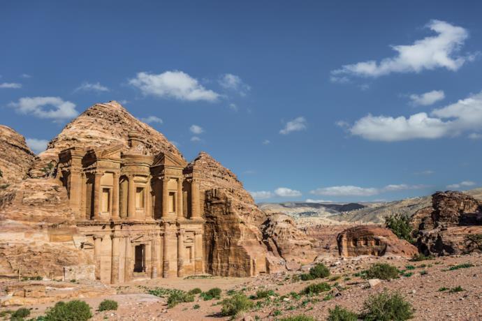 Resti di un monumento di Petra, Giordania