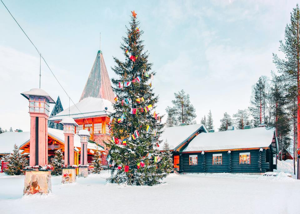 Rovaniemi Finlandia Villaggio Di Babbo Natale.Natale Al Villaggio Di Santa Claus In Finlandia