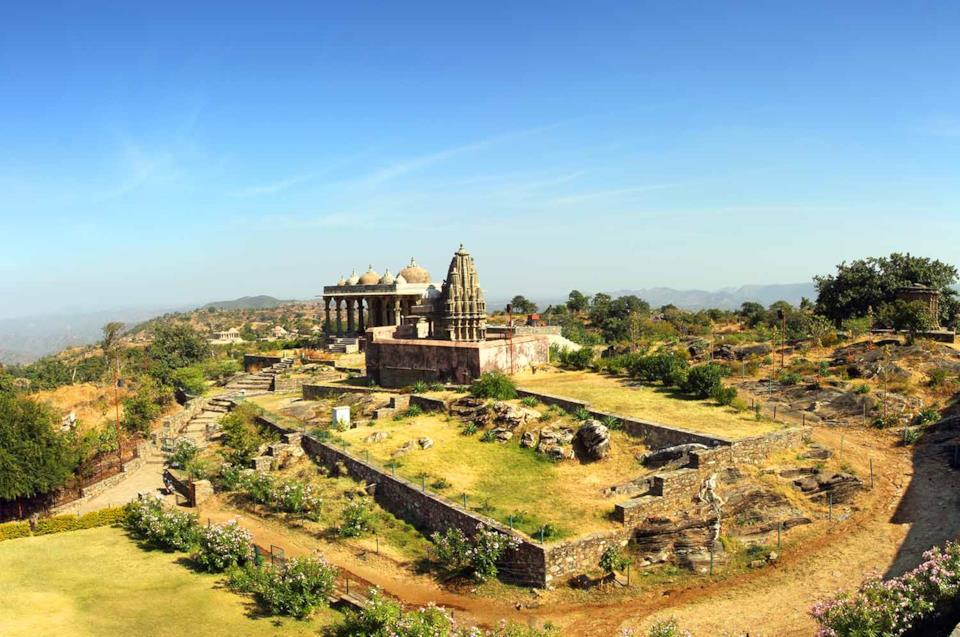 Panorama rovine nella regione del Rajasthan