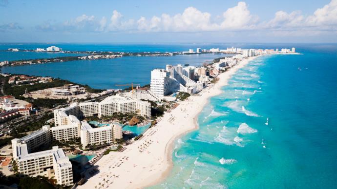Spiaggia di Cancun, Messico