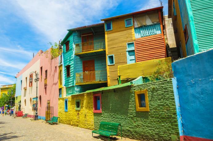 Case del quartiere di La Boca a Buenos Aires