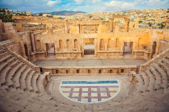 Antico teatro a Jerash