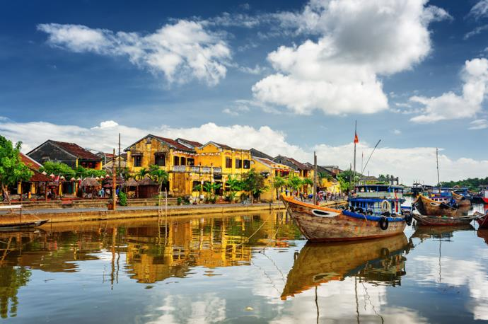Barche a Hoi An, Vietnam