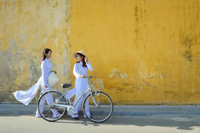 Donne vietnamite a Hoi An, Vietnam