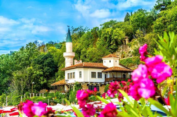 Scorcio di Balchik in primavera in Bulgaria